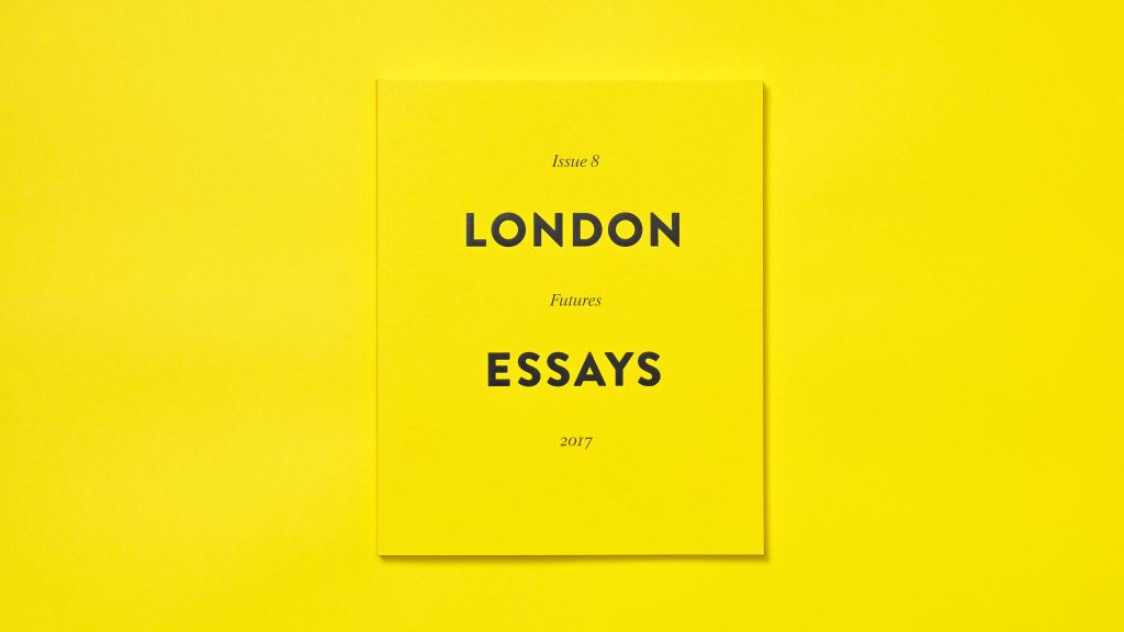 The cover of issue 8 of London Essays (Futures; 2017).