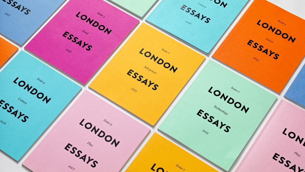 A collages of the full collection of London Essays covers.