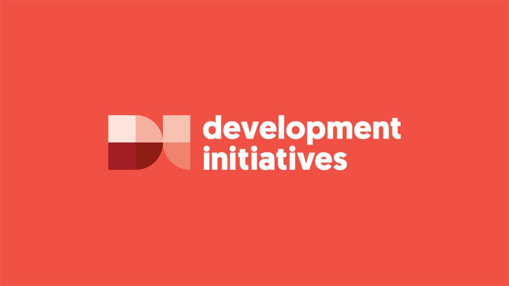 The Development Initiatives logo in different shades of red.