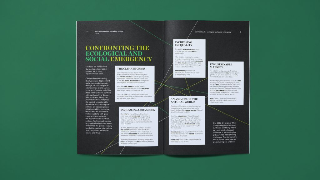 An inside page spread showing a range of text and standout boxed text.